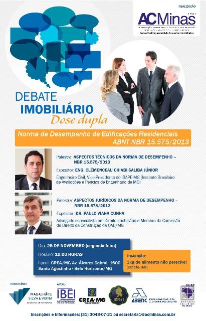 DEBATE IMOBILIÁRIO - NORMA DE DESEMPENHO - NBR 15.575/2013
