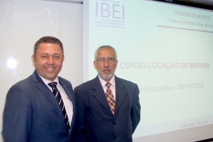 Pascoal Anselmo Santiago - Presidente do SINDIMÓVEIS/MG e Prof. Antônio César da Silva